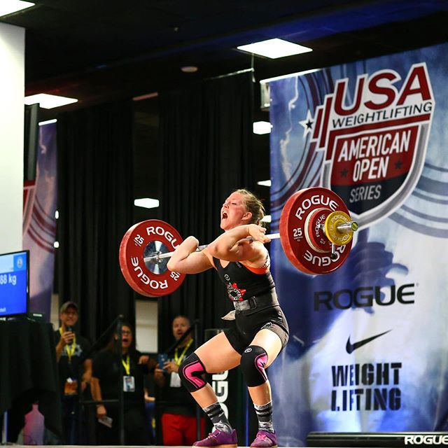 MY four-days-left-of-this-semester MOOD!! (#throwback to last summer) I LOVED training with @lhobarbell for a full year in 2018, and having this opportunity to compete on a national stage. 🙂 #63kg #ao2 #2018 #throwback