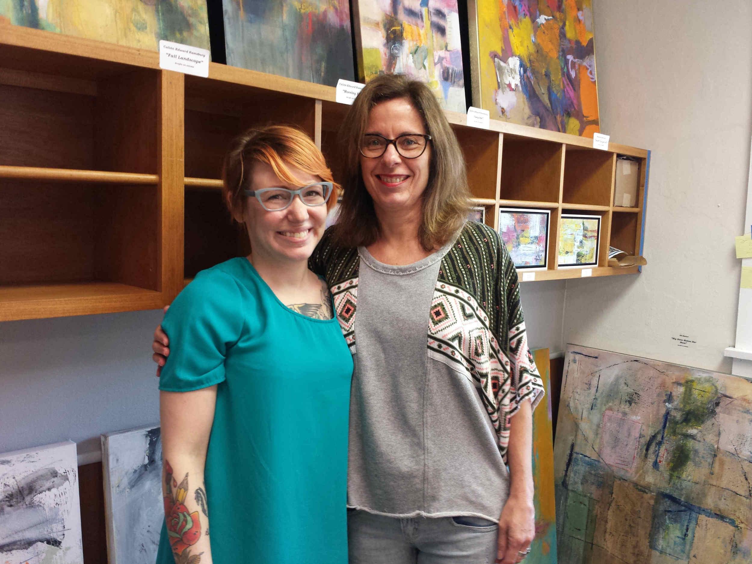 Jennifer and Beth at Artomatic