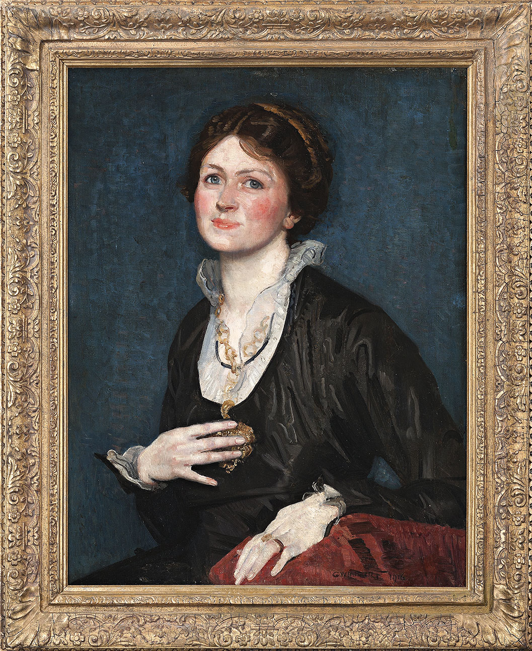 George W Lambert's portrait of an unidentified sitter, found at auction in the UK.