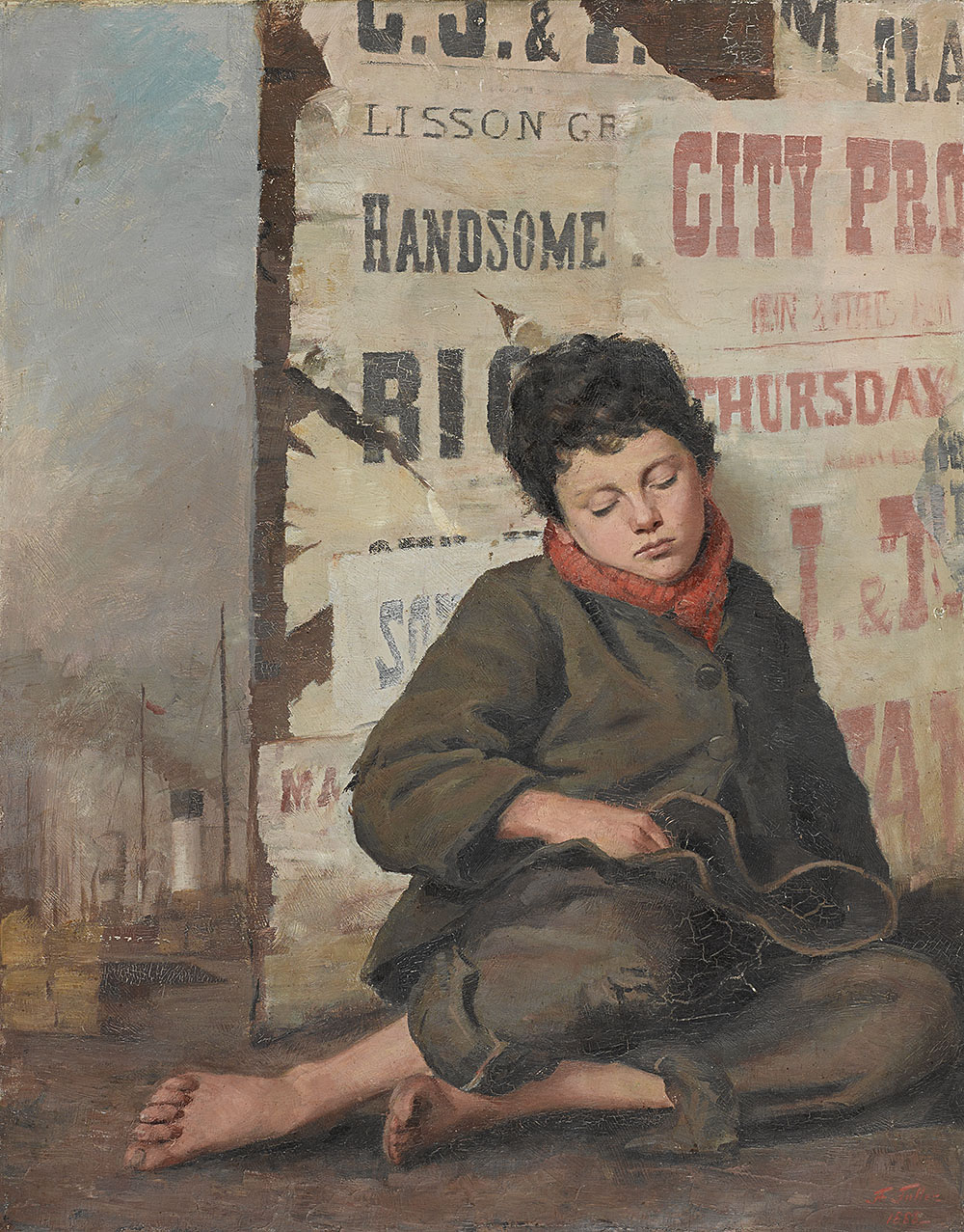 FLORENCE FULLER 1867–1946  Weary  1888 Sold at Sotheby's Australia for $280,600