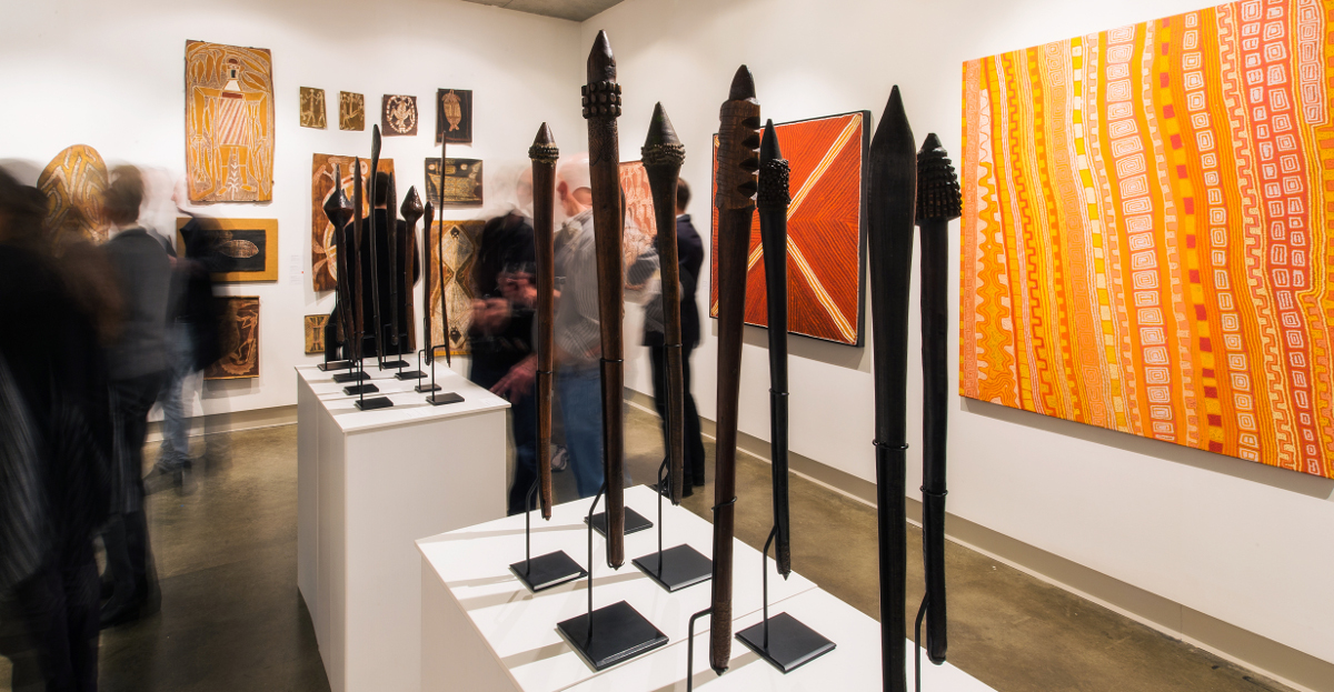 Rare artefacts included in my recent exhibition of   Important Australian Indigenous Art