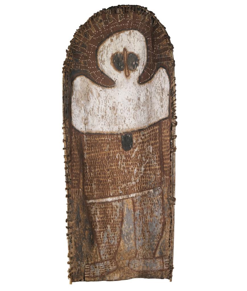 ALEC MINGELMANGANU,circa 1905-1981  Wanjina   Sold at Sotheby's, Aboriginal Art - Thomas Vroom Collection , London, 10 June 2015, for $187,069
