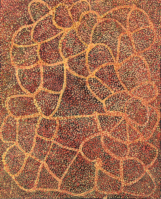 EMILY KAME KNGWARREYE, circa 1910-1996  Wild Yam and Emu Food , 1990