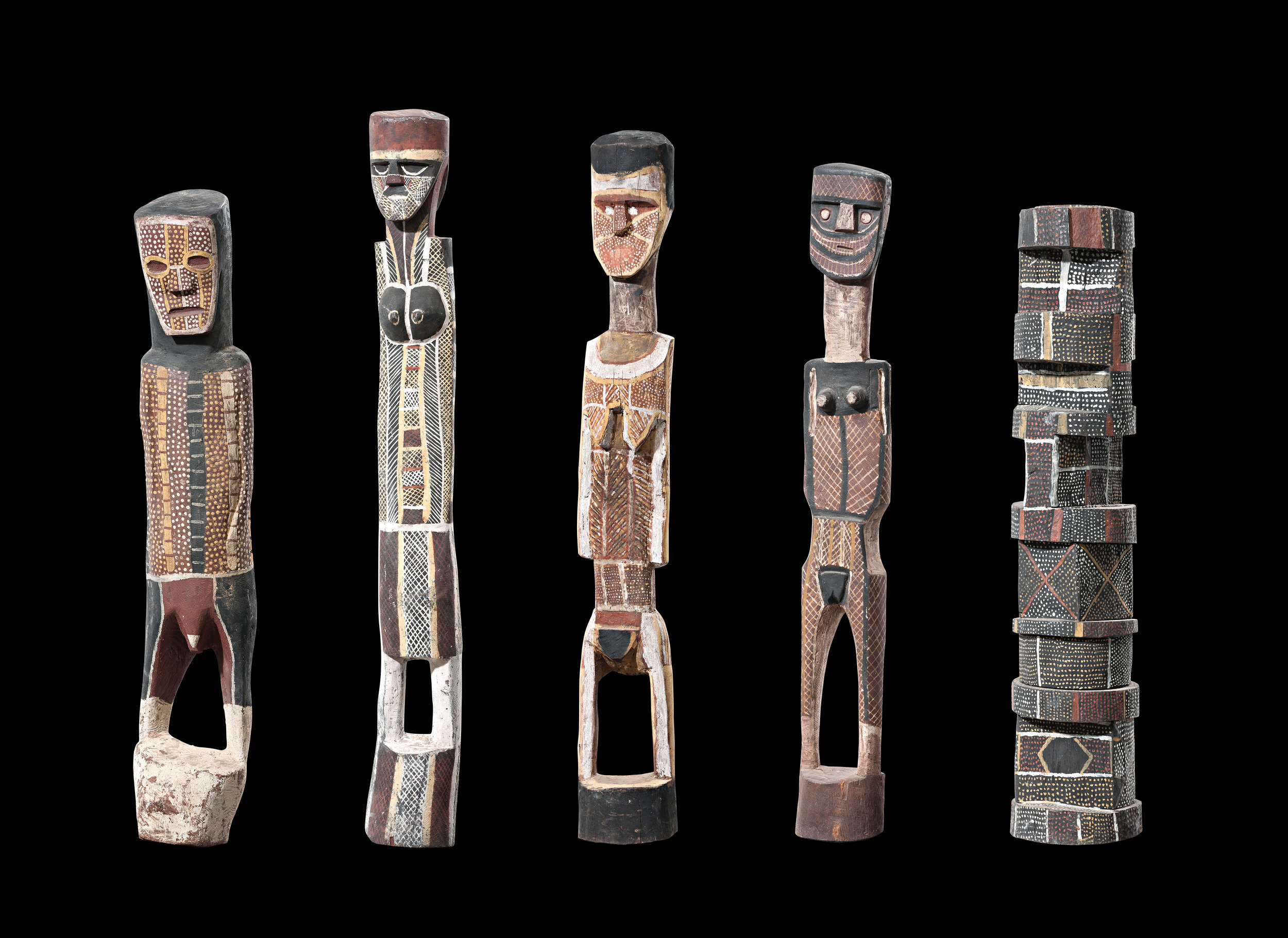 A collection of Tiwi ironwood carvings from the Estate of Marianne Baillieu. From my BARK + IRONWOOD exhibition, November 2016, sold to an Australian Museum