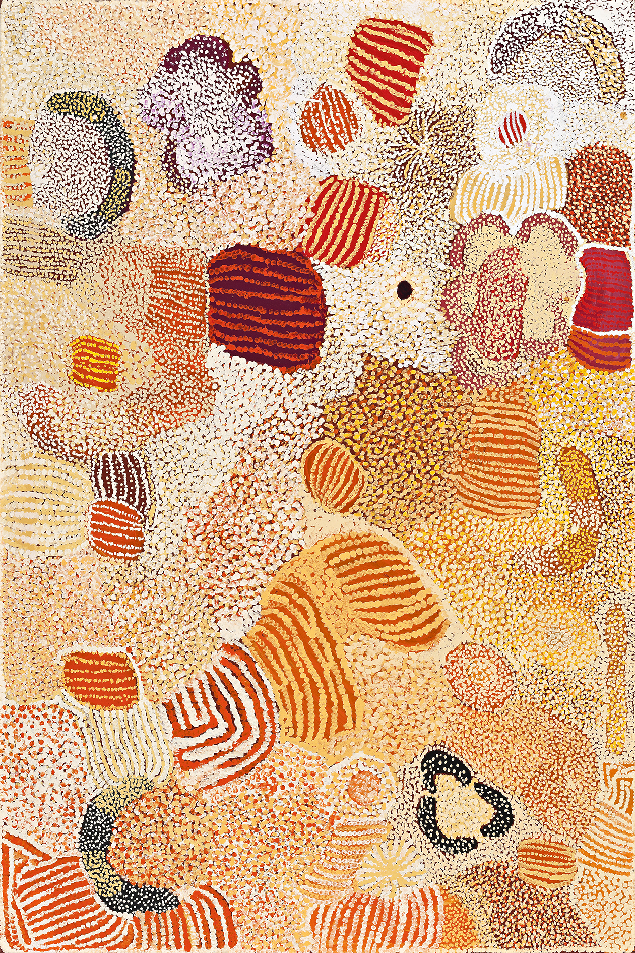 Elizabeth Nyumi Nungarrayi,  Parwalla , 2001 From the Laverty Collection, sold at Deutscher and Hackett for $37,820 IBP