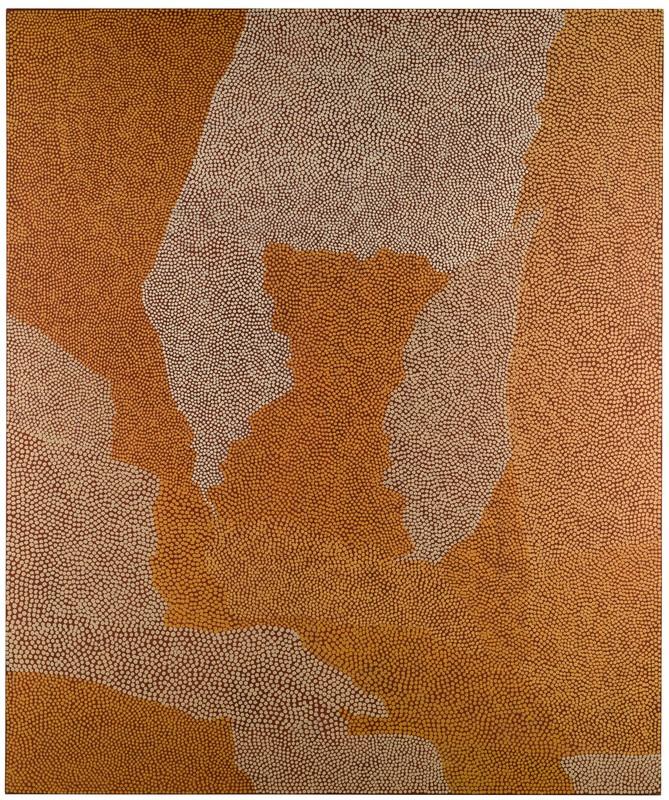 Mick Namarari Tjapatjarri,  Untitled, Tjunginpa Tjukurrpa (Spinifex Hopping Mouse Dreaming)  sold for £32,500 at Sotheby's London, September 2016