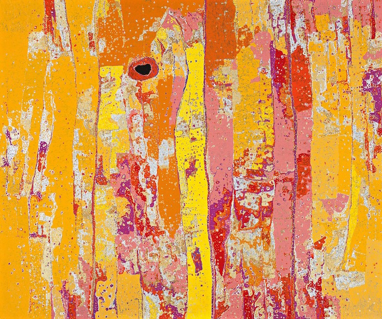 DANIEL WALBIDI , born 1983,  Kirriwirri , 2013, 171 x 205 cm   SOLD BY D+H AUCTIONS FOR $79,300 AUD