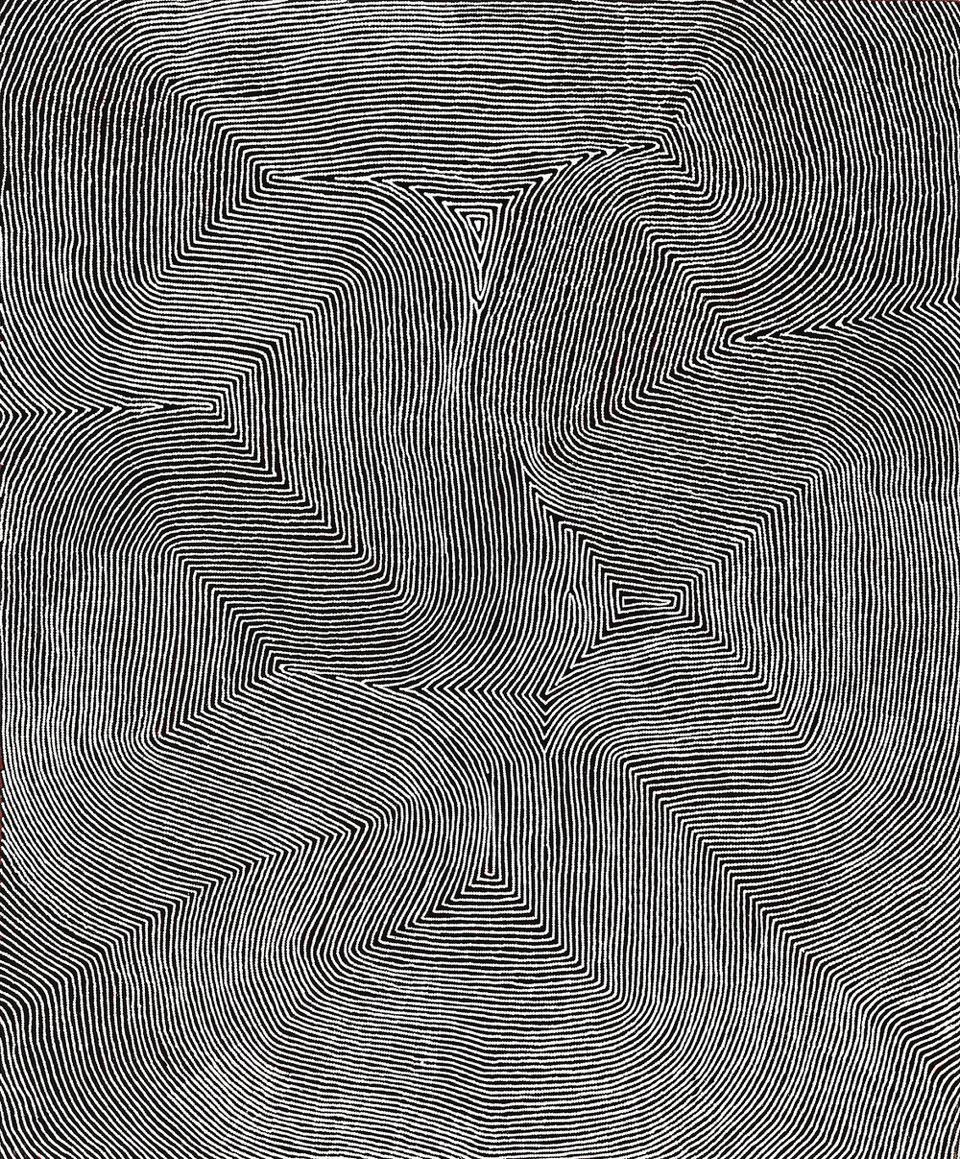 WARLIMPIRRNGA , born circa 1958  Marawa,  2012, 182 x 151 cm