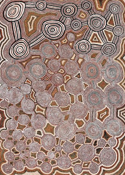 TIMMY PAYUNGKA, Parayirrpilnya, 1986, 140.5 x 101.0 cm, SOLD BY DEUTSCHER + HACKETT FOR $22,940 AUD
