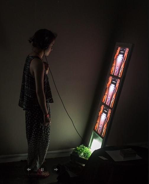 Prototype of interactive animation installation