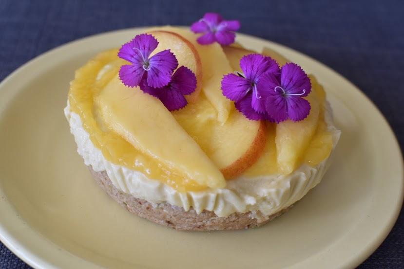Raw Mango Passion Cheesecake
