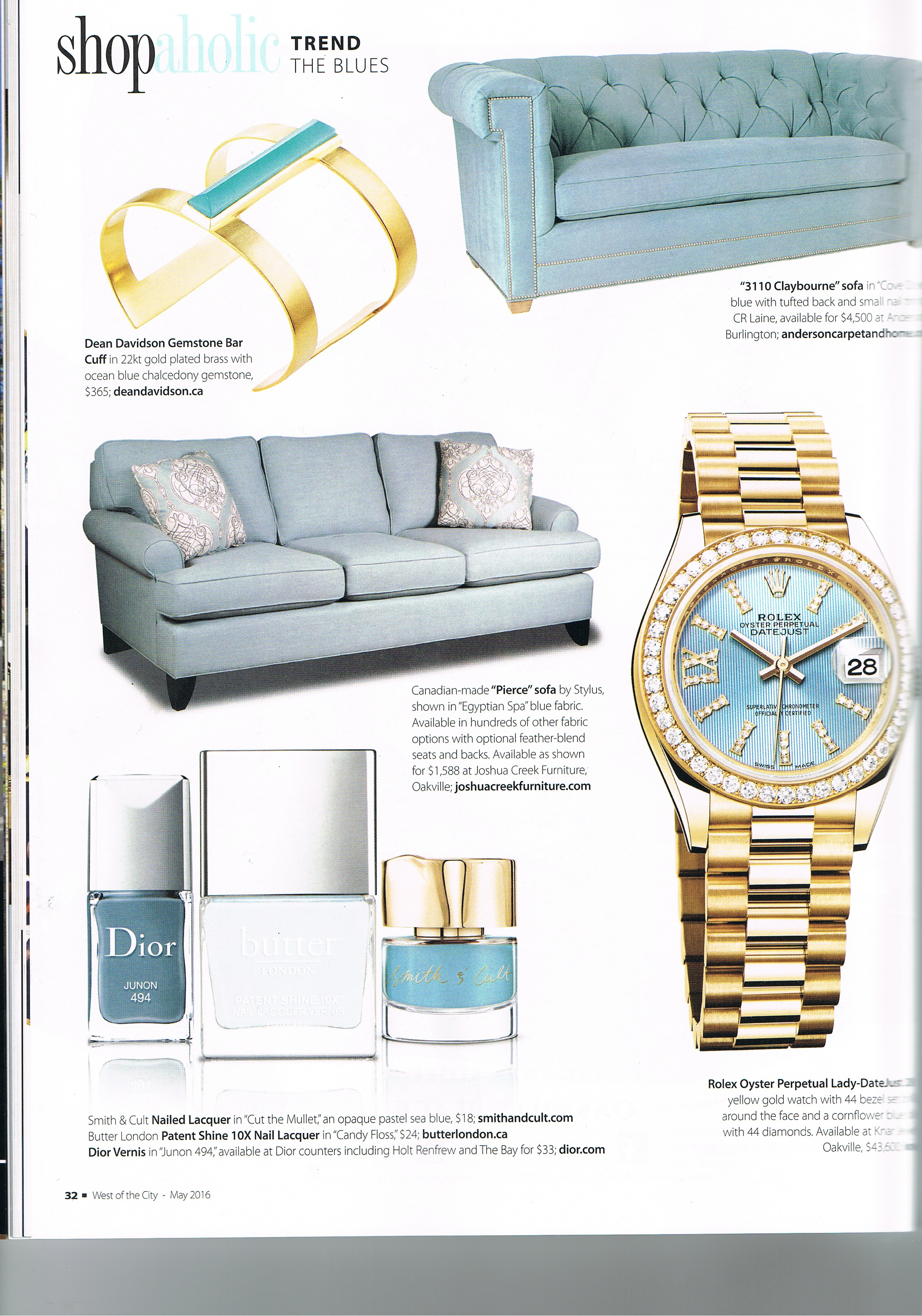 Dean Davidson Jewellery featured in West of the City Magazine