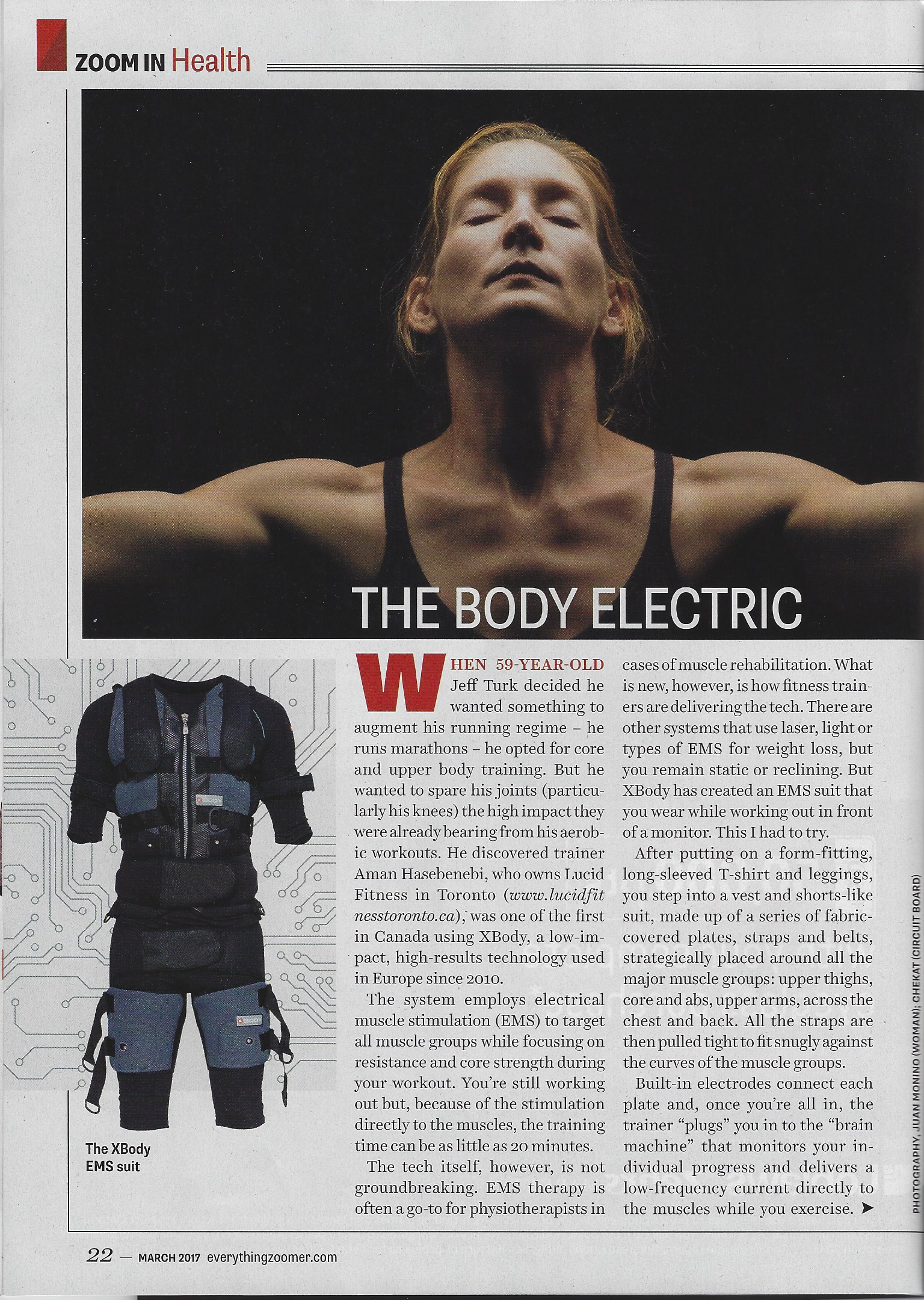 Zoomer Magazine reports on a revolutionary workout done in 25min called X Body EMS Training X Body Canada.