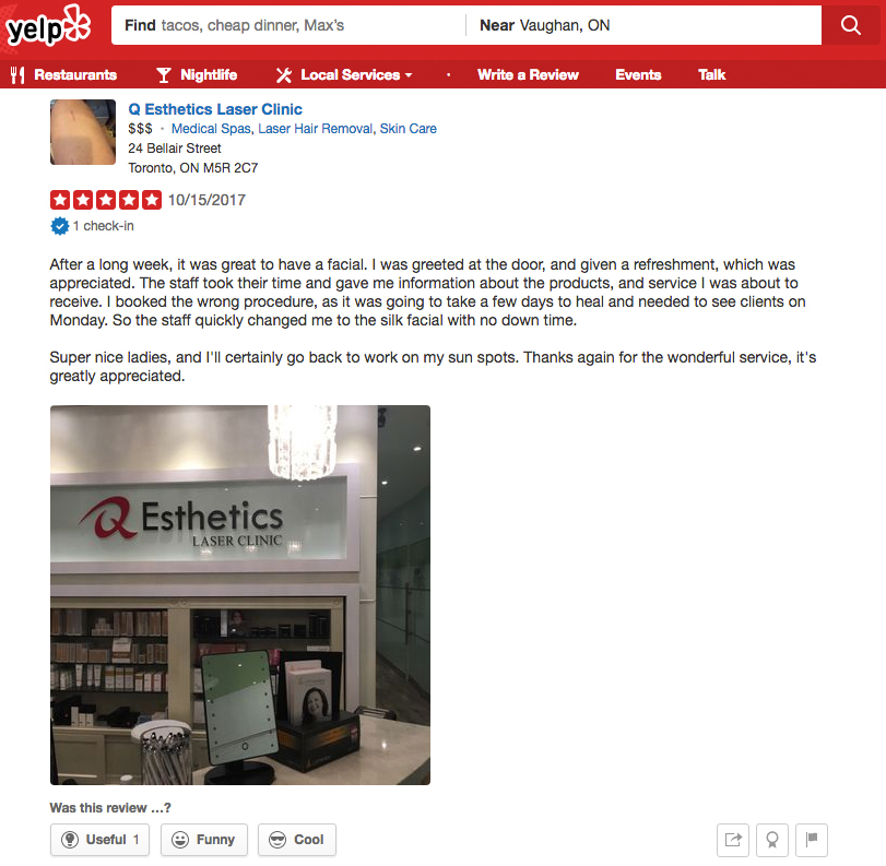 Anne Sportun featured on  Sophon C. review on Yelp