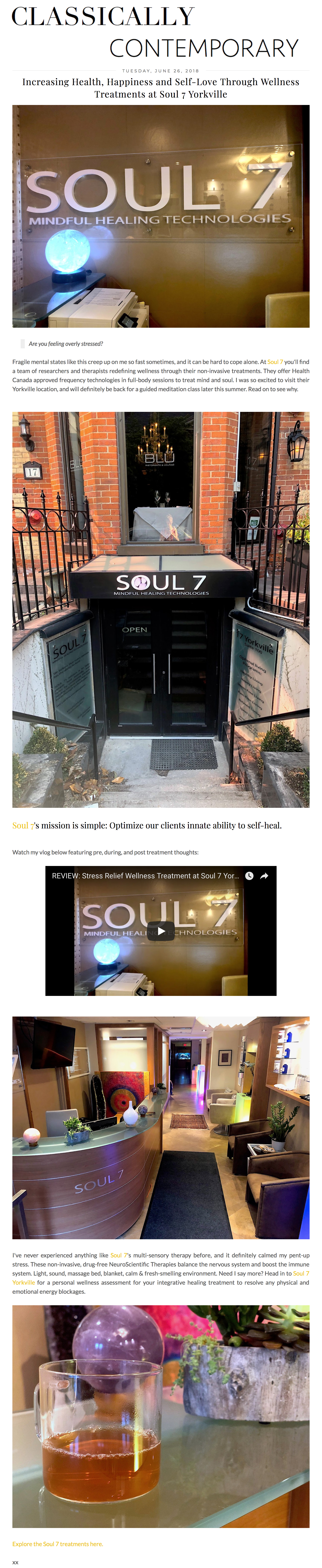 Soul7 featured in  Classically Contemporary .
