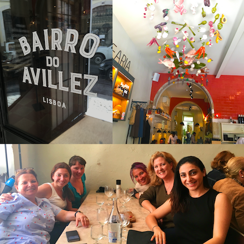 Our first meal together in Lisbon. Bairro do Avillez Photo credits: Alison Bossert, Assal Habibi, Ida Ashoori