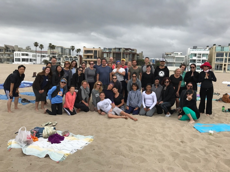 My lovely beach yoga tribe -  Marina del Rey, CA