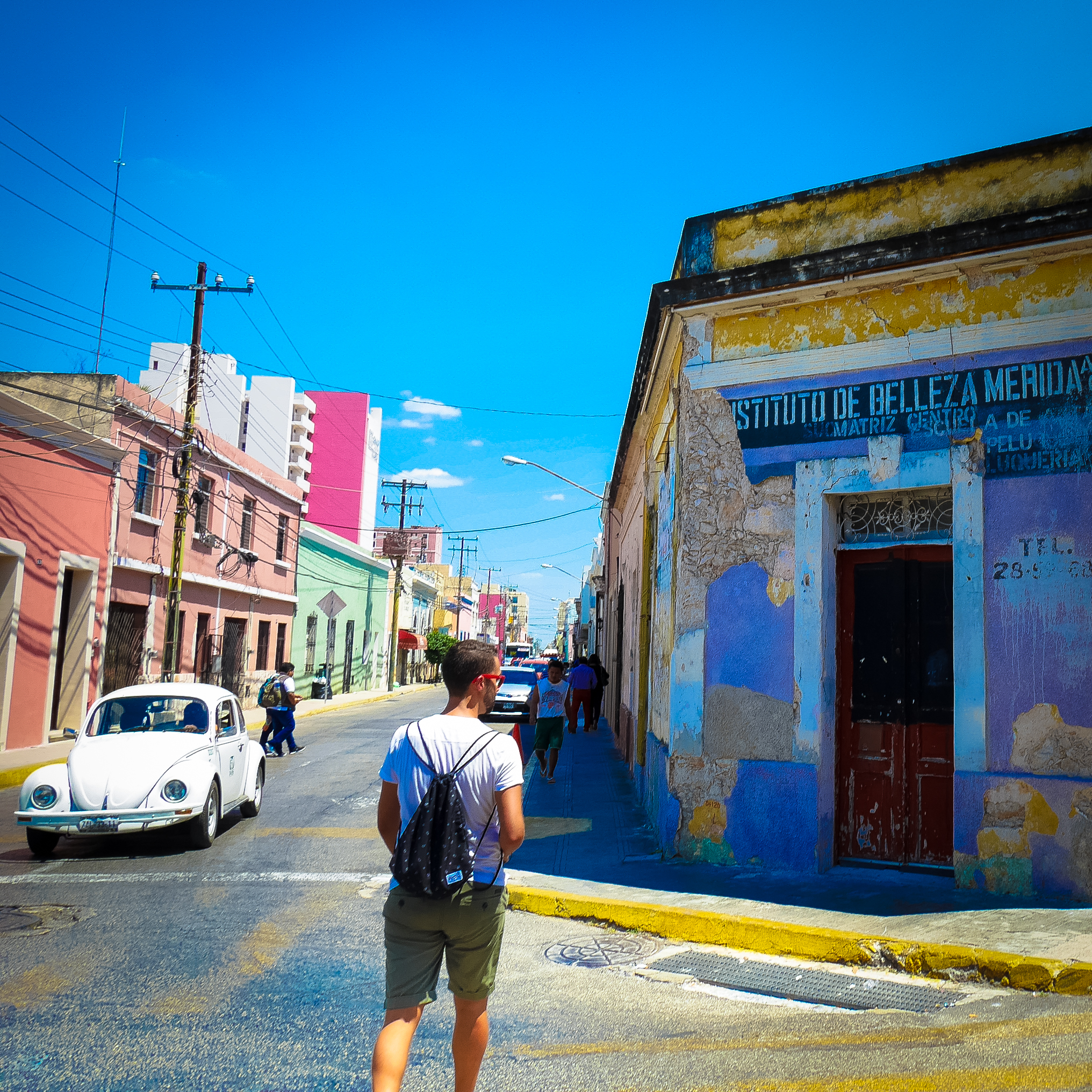 Exploring the streets of Merida (an ADO bus can take your here)