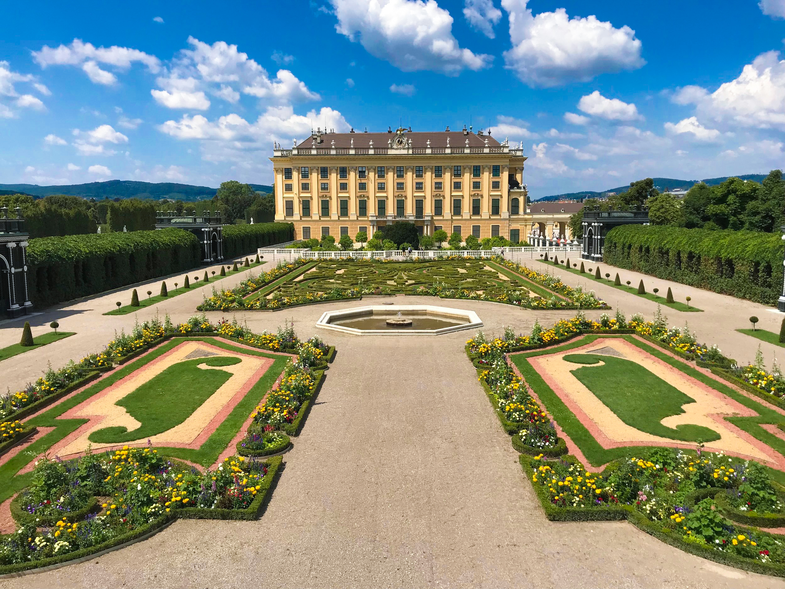 Using Expedia's Add-on Advantage, we managed to score great flights and a hotel in Vienna (pictured is the Summer Palace in Vienna).