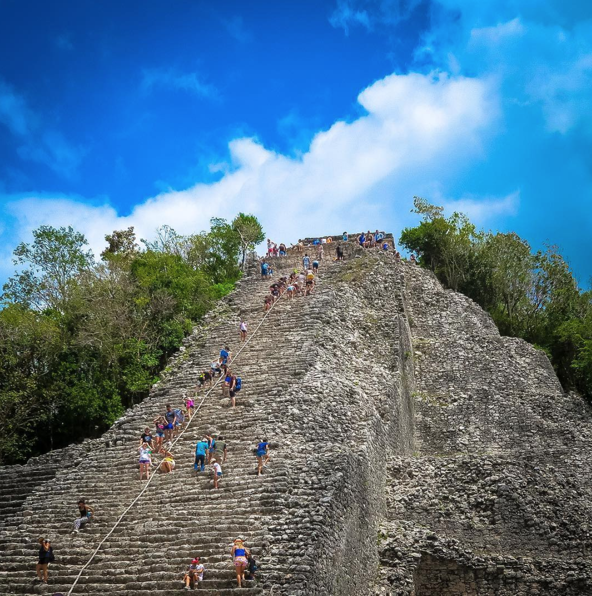Climb to the top of the Coba Ruin to see the view for yourself.