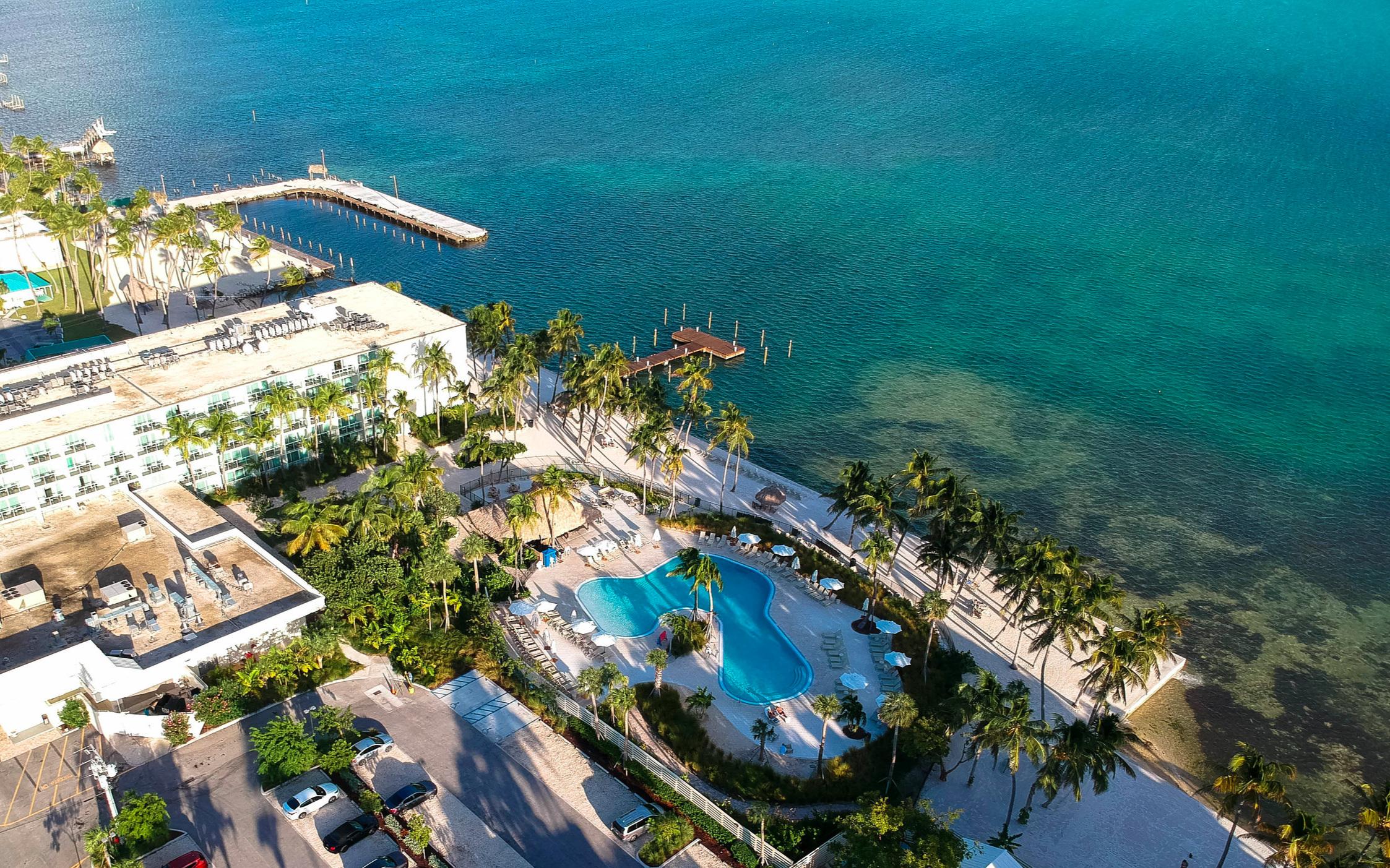Amara Cay Resort from above.