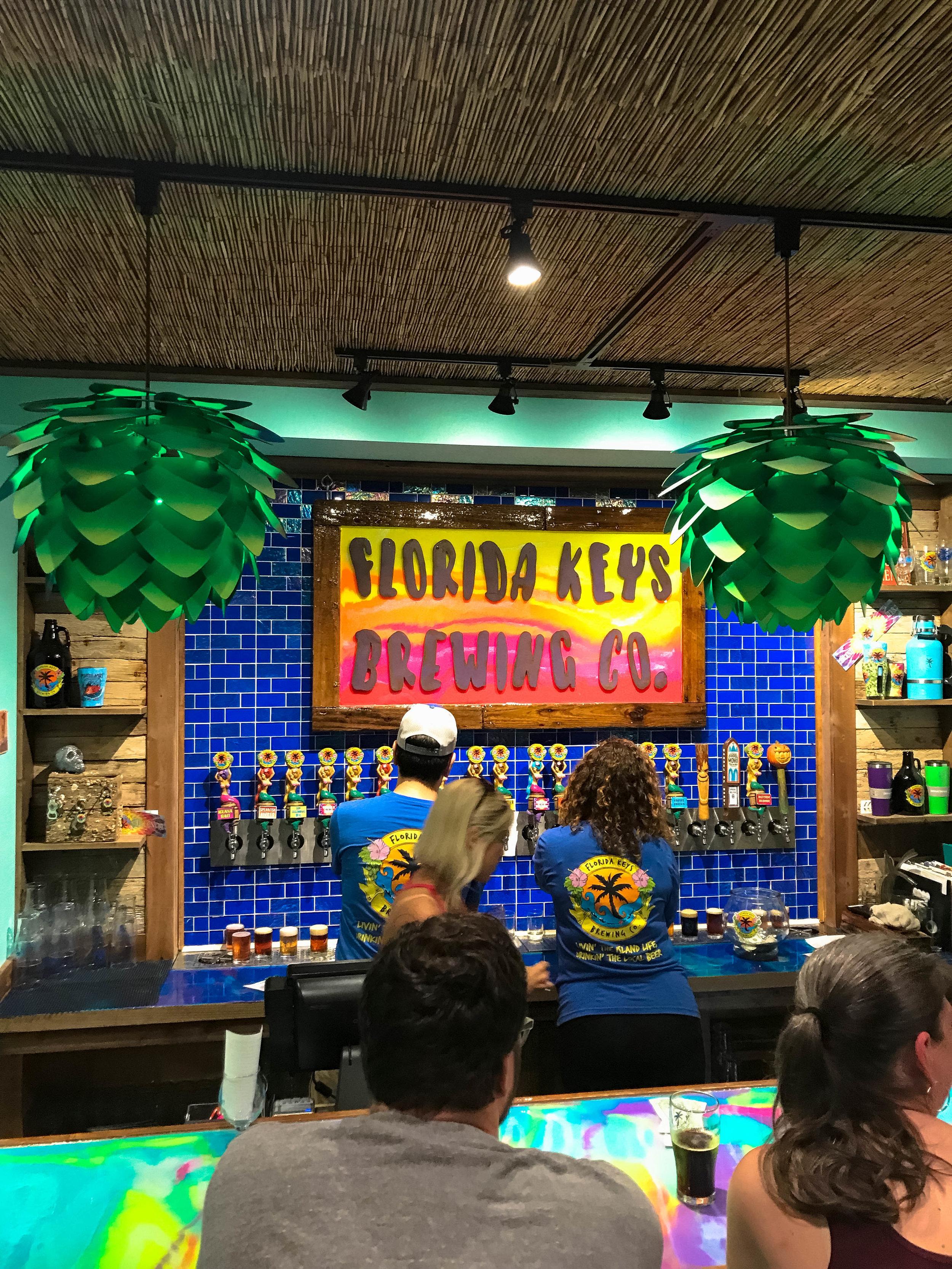 The bar at Florida Keys Brewing Co.