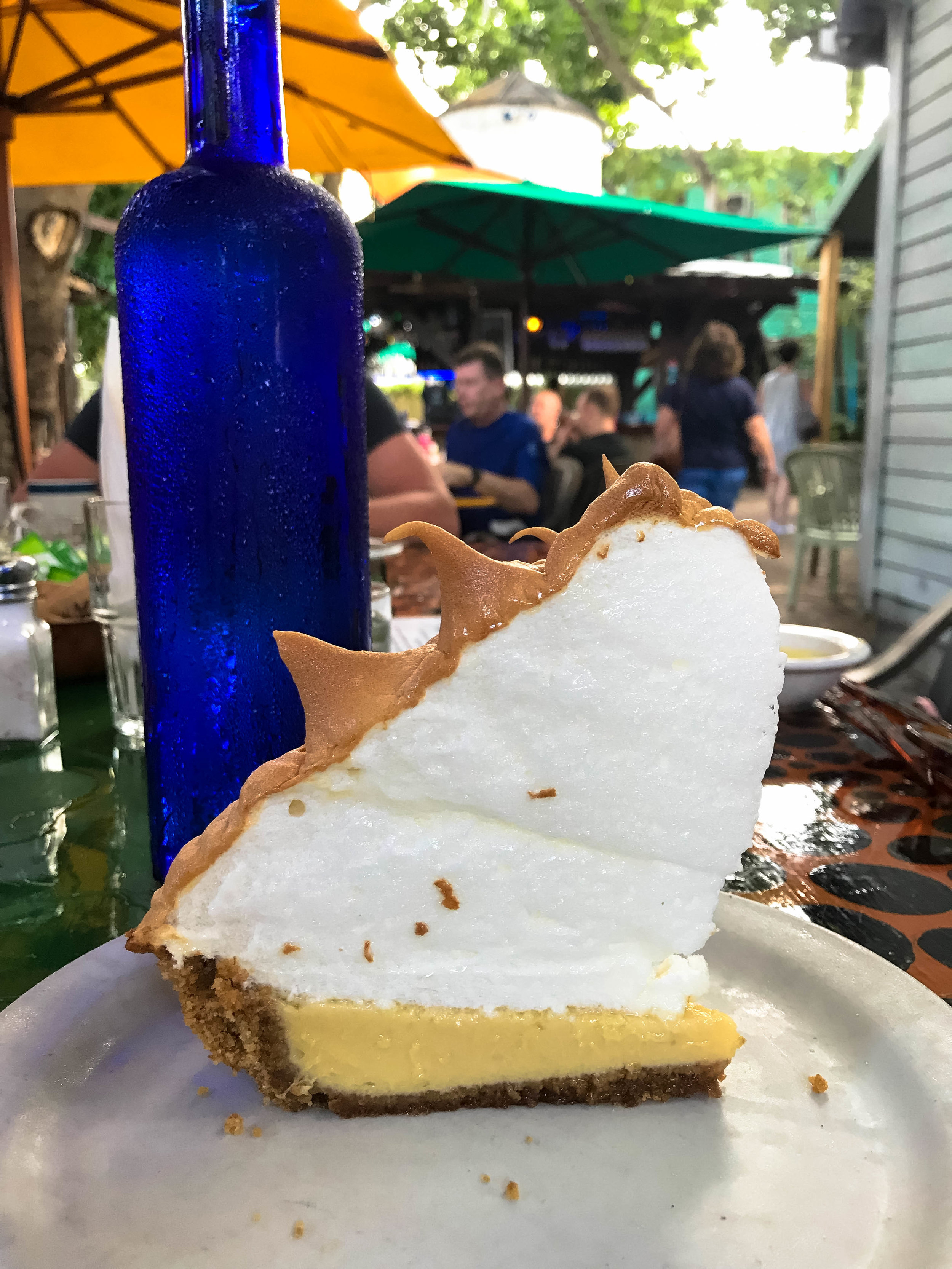 Our very last piece of Key LIme Pie while visiting the Florida Keys.