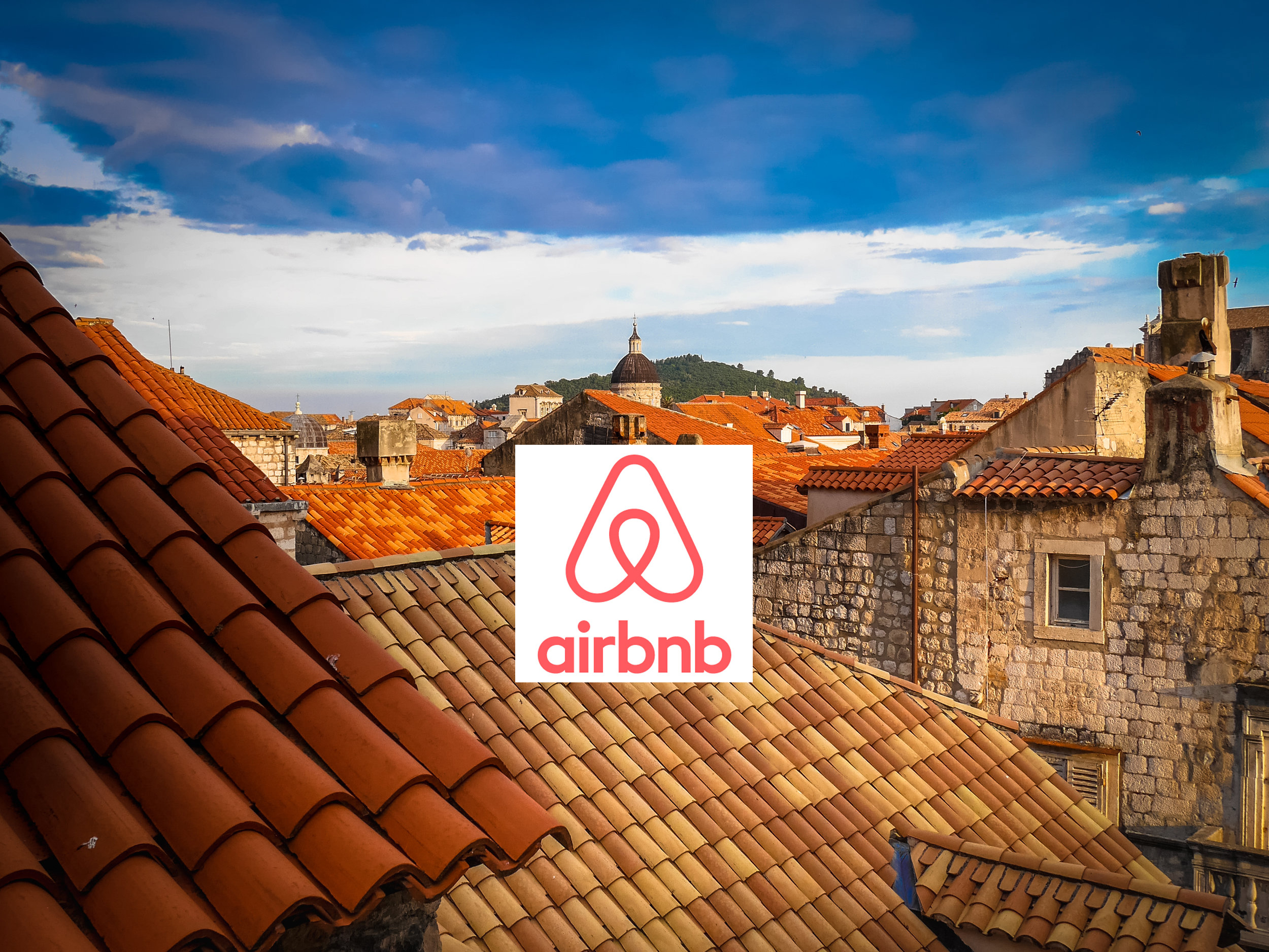 Amazing views from our Airbnb in Dubrovnik