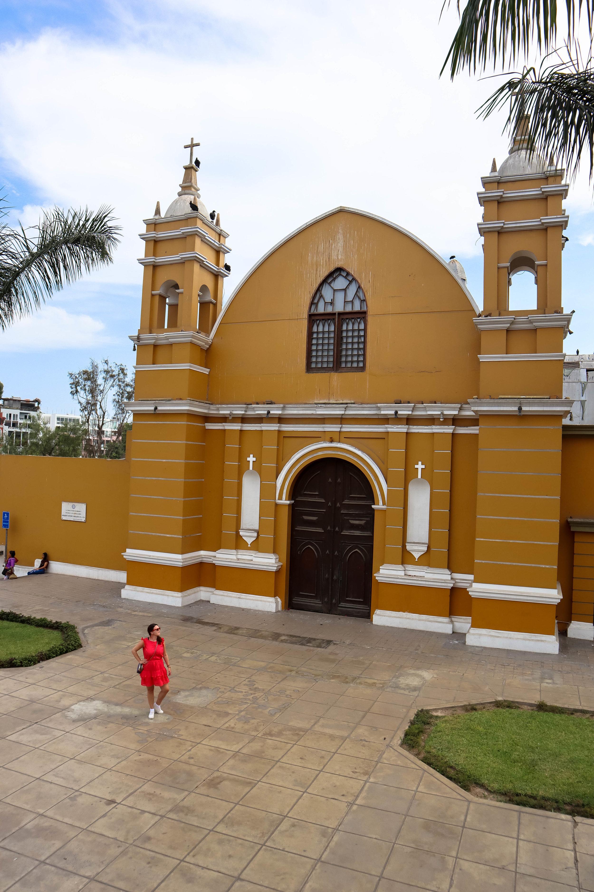 A beautiful church in Barranco