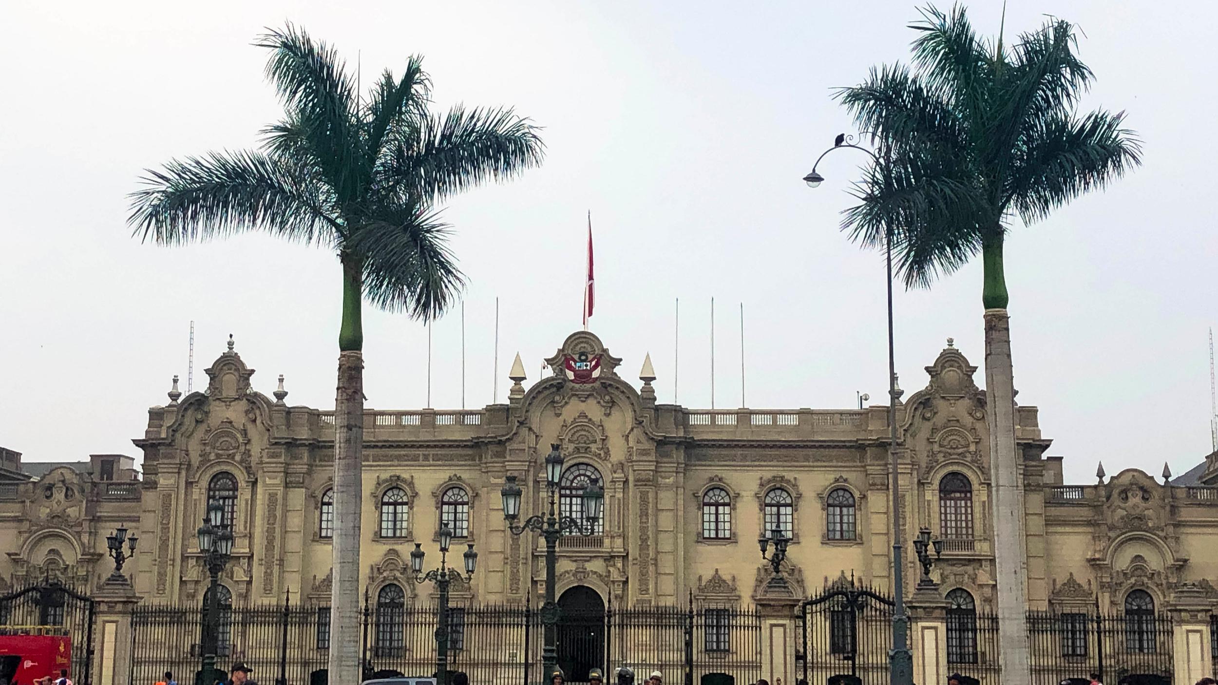 Beautiful historic buildings in the Plaza De Armas