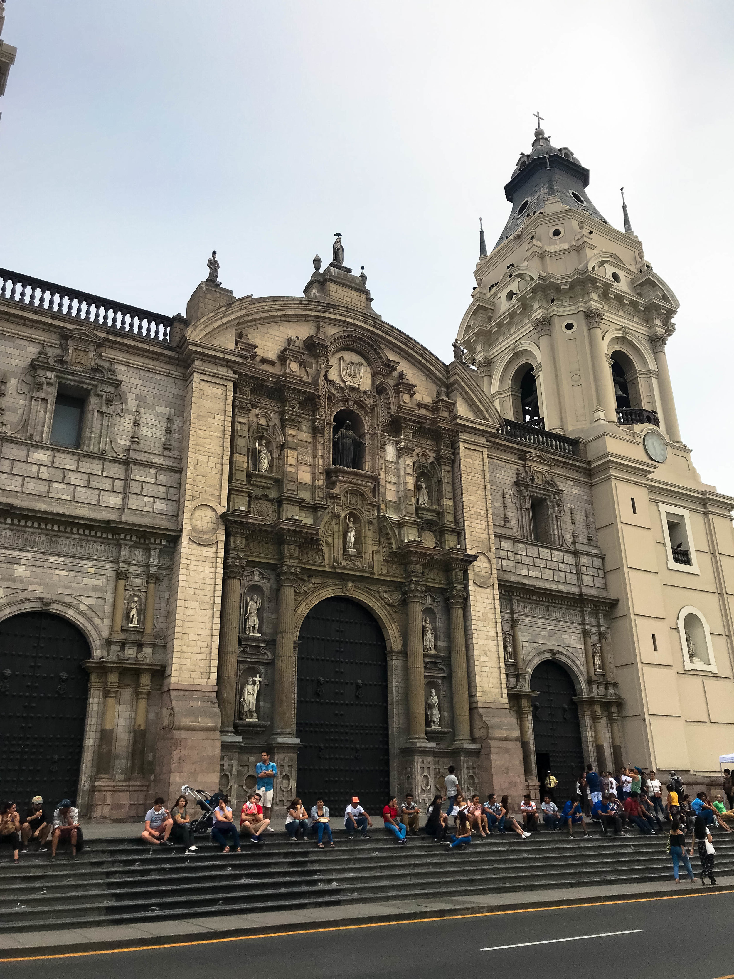 The Lima Cathedral in the Plaza De Armas