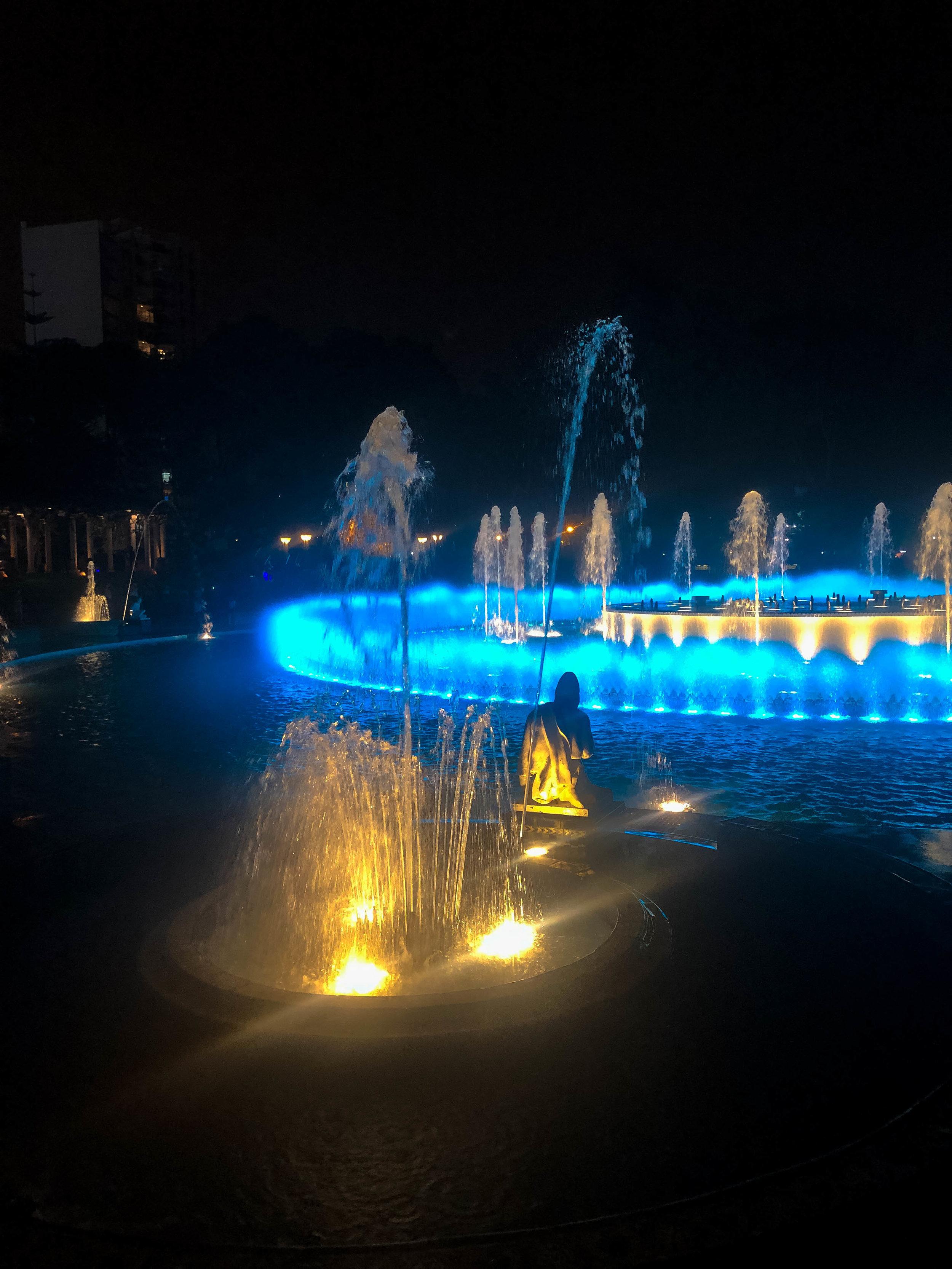 Lightshow at the Parque De La Reserva