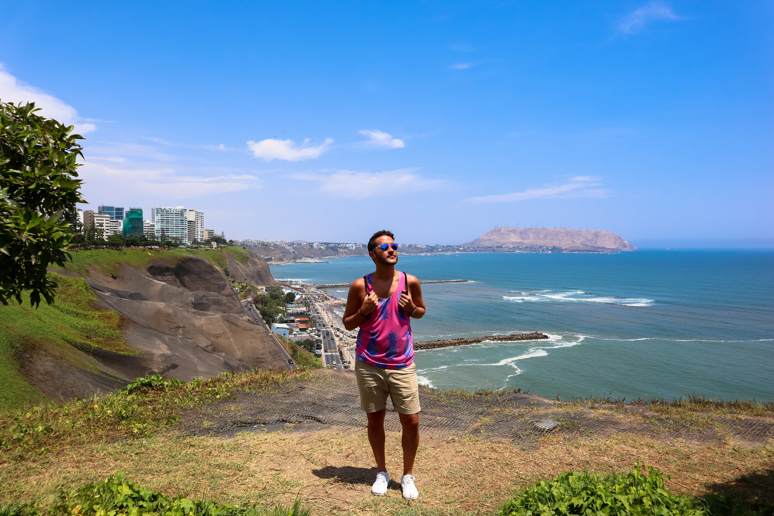 The Amazing view from Miraflores over the Pacific Ocean