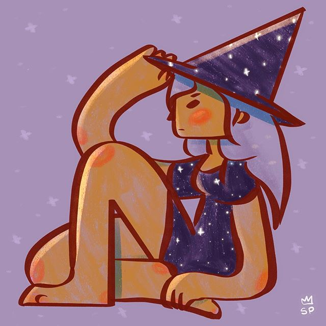 ✨Almost fall #sketch #witch #stars
