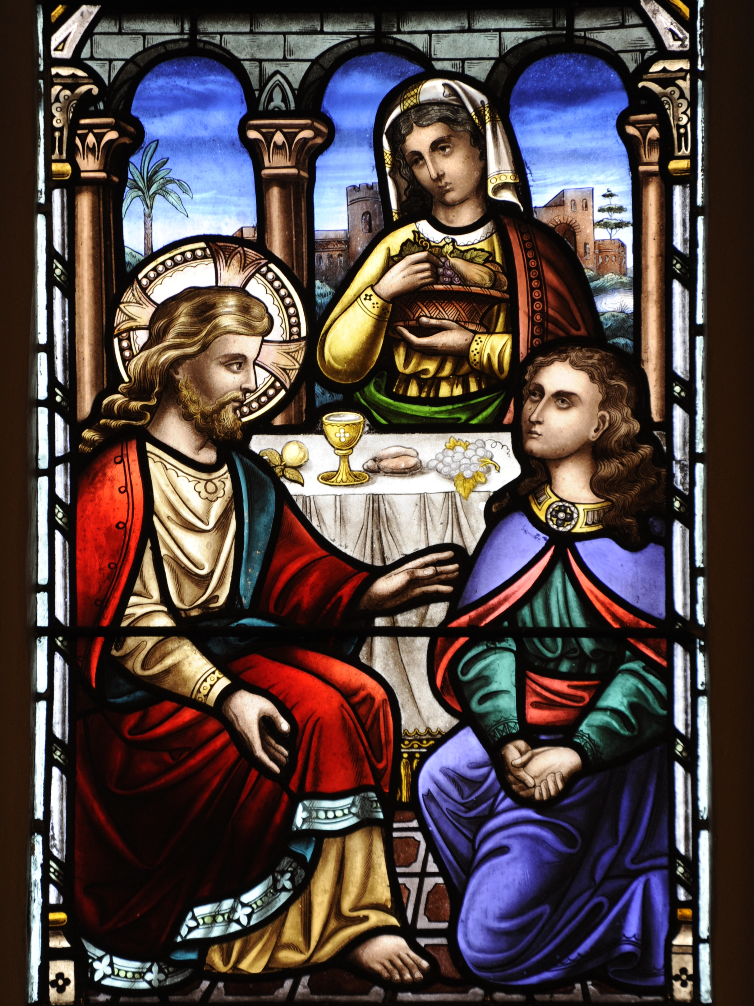 Marth & Mary window in the Lady Chapel