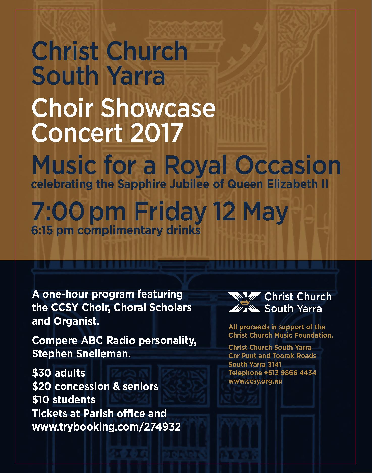 CCSY Choir Showcase Concert 2017