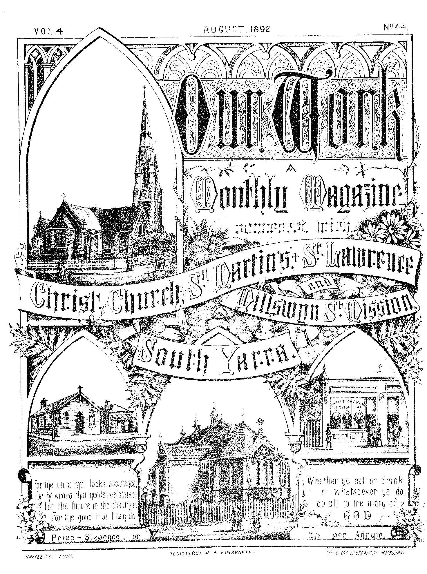 Our Work - CCSY Monthly Magazine 1892
