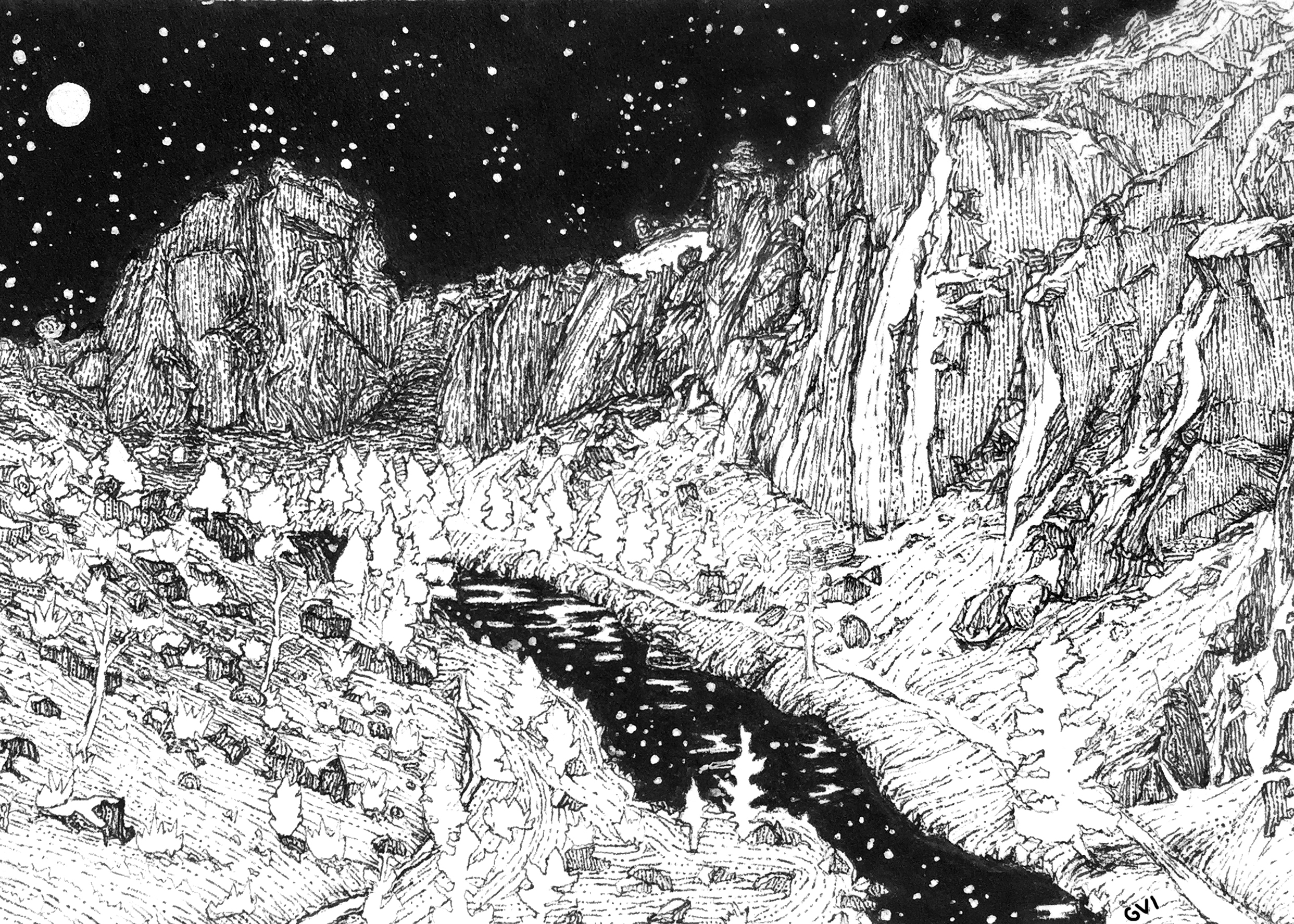 Smith Rock Moonlight