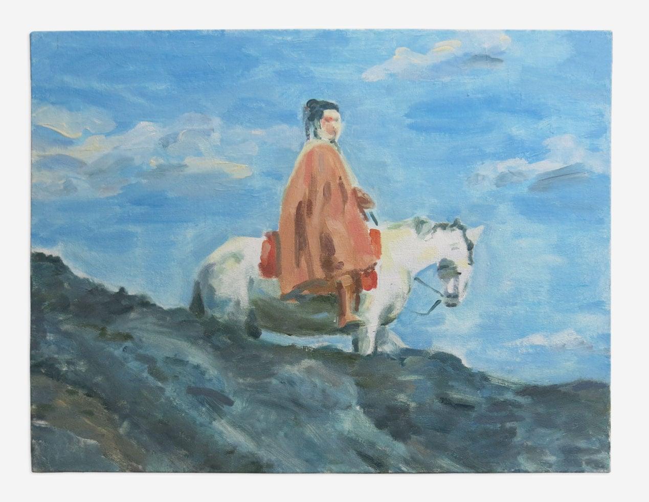 """Fuun Lion Maru 1973,  Oil on Board,14"""" x 18"""", 2015"""
