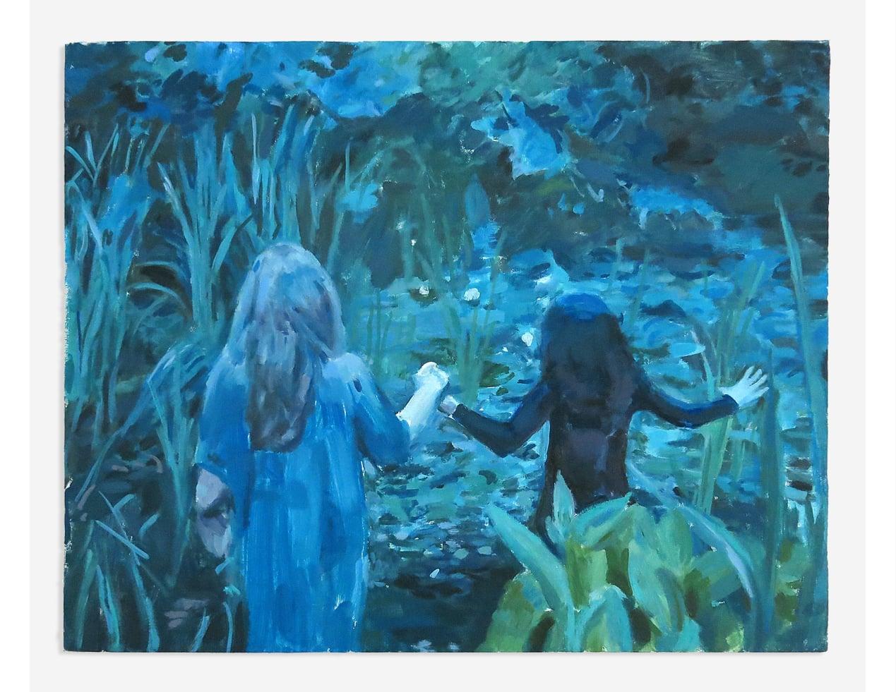 """La Nuit Des Étoiles Filantes 1973 , Oil on Canvas, 16"""" x 20"""", 2015"""
