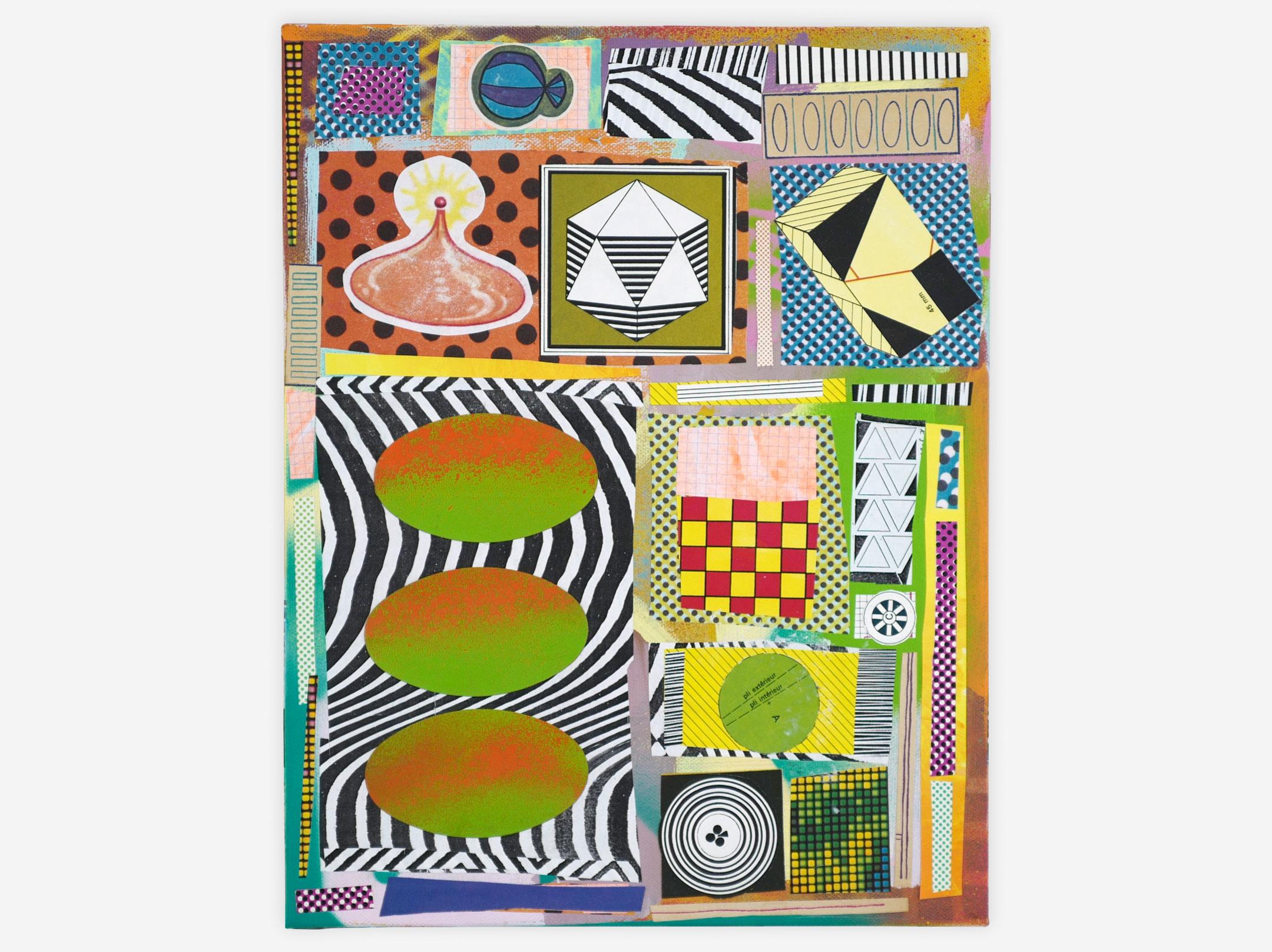 "Strange Fourth Dimension, Mixed Media on Canvas, 11"" x 14"", 2017"