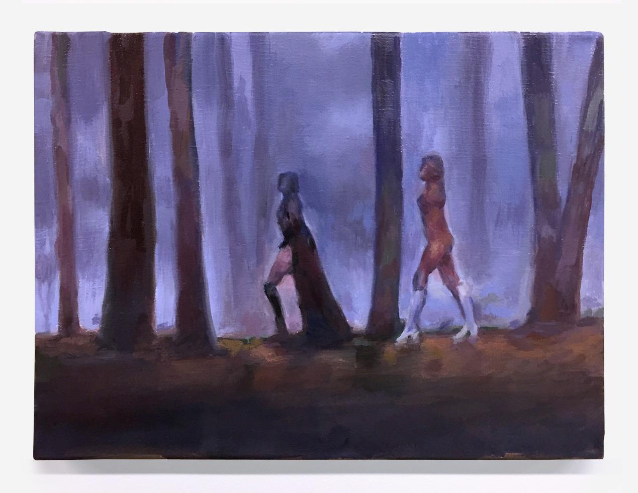 """La Comtesse Noire (Female Vampire) 1973, oil on canvas,  11"""" x 14"""", 2018"""