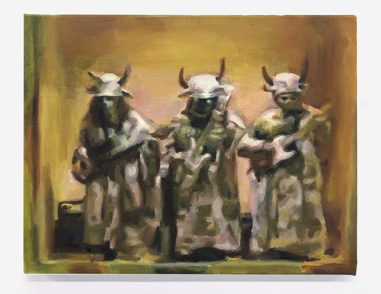 "Get Smart: The Groovy Guru ,  1968 , oil on canvas, 11"" x 14"", 2019"