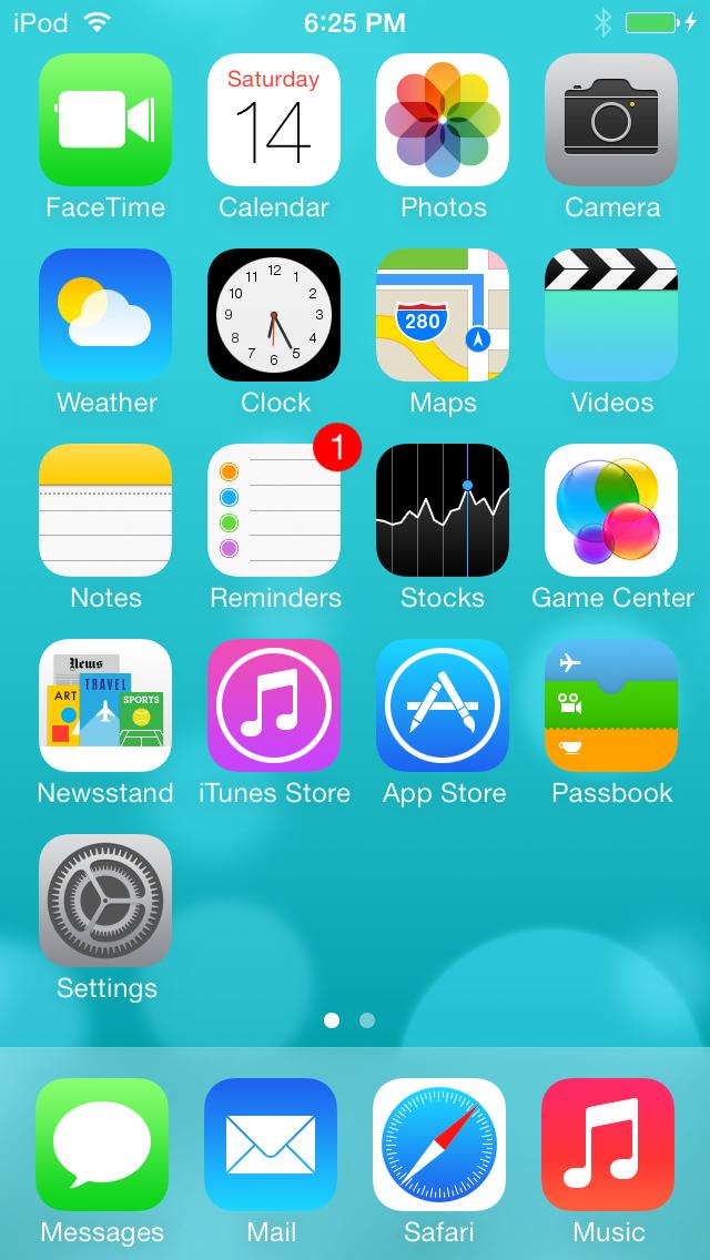 iOS 7, beta release 1