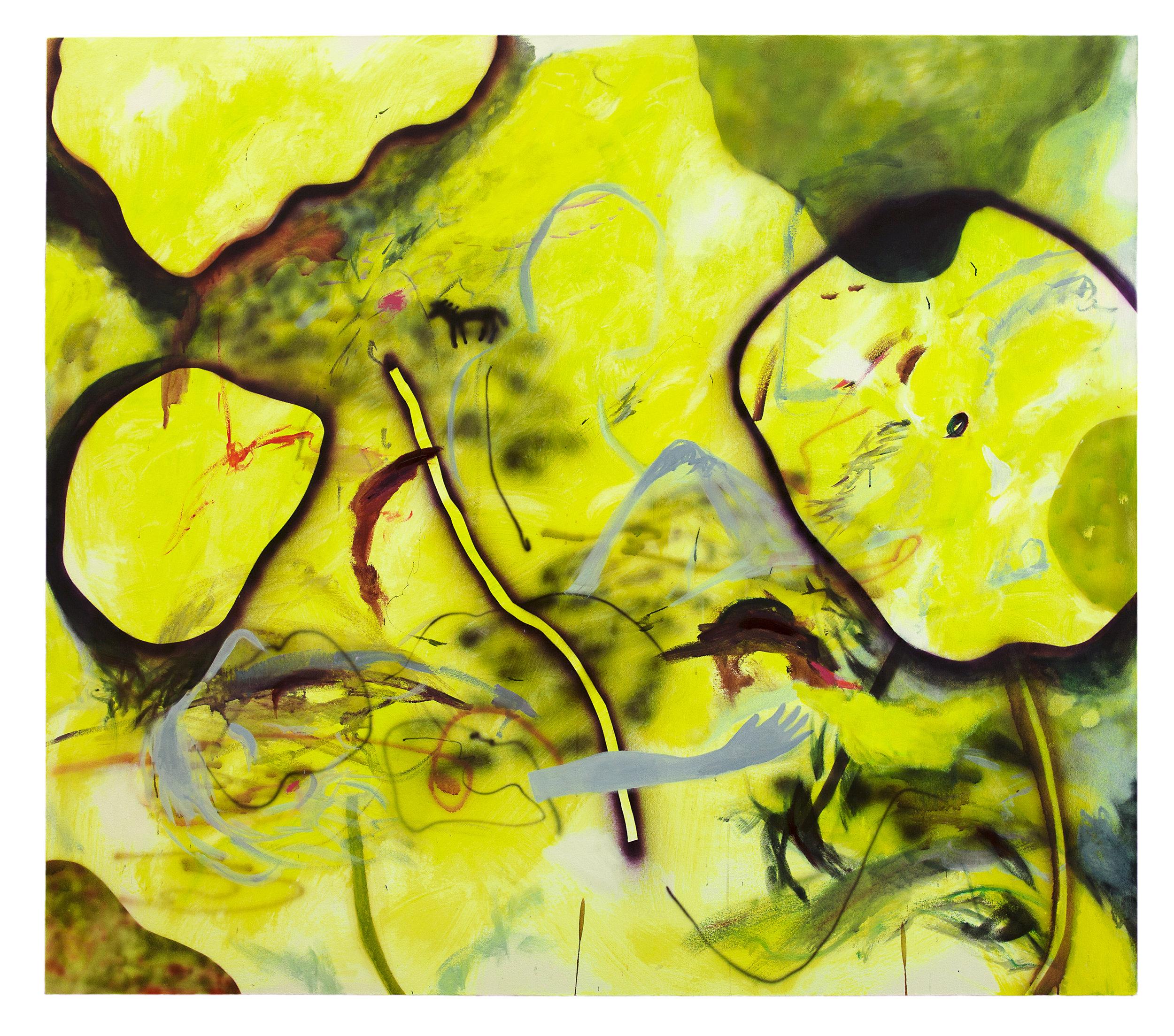 """Elysian Blip   2016  mixed media on canvas  70 X 80"""""""