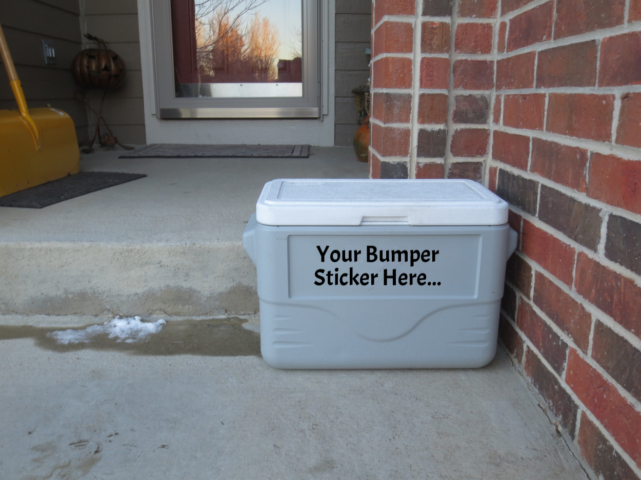 What impression does a plastic cooler give to friends or visitors when they arrive at your front door?