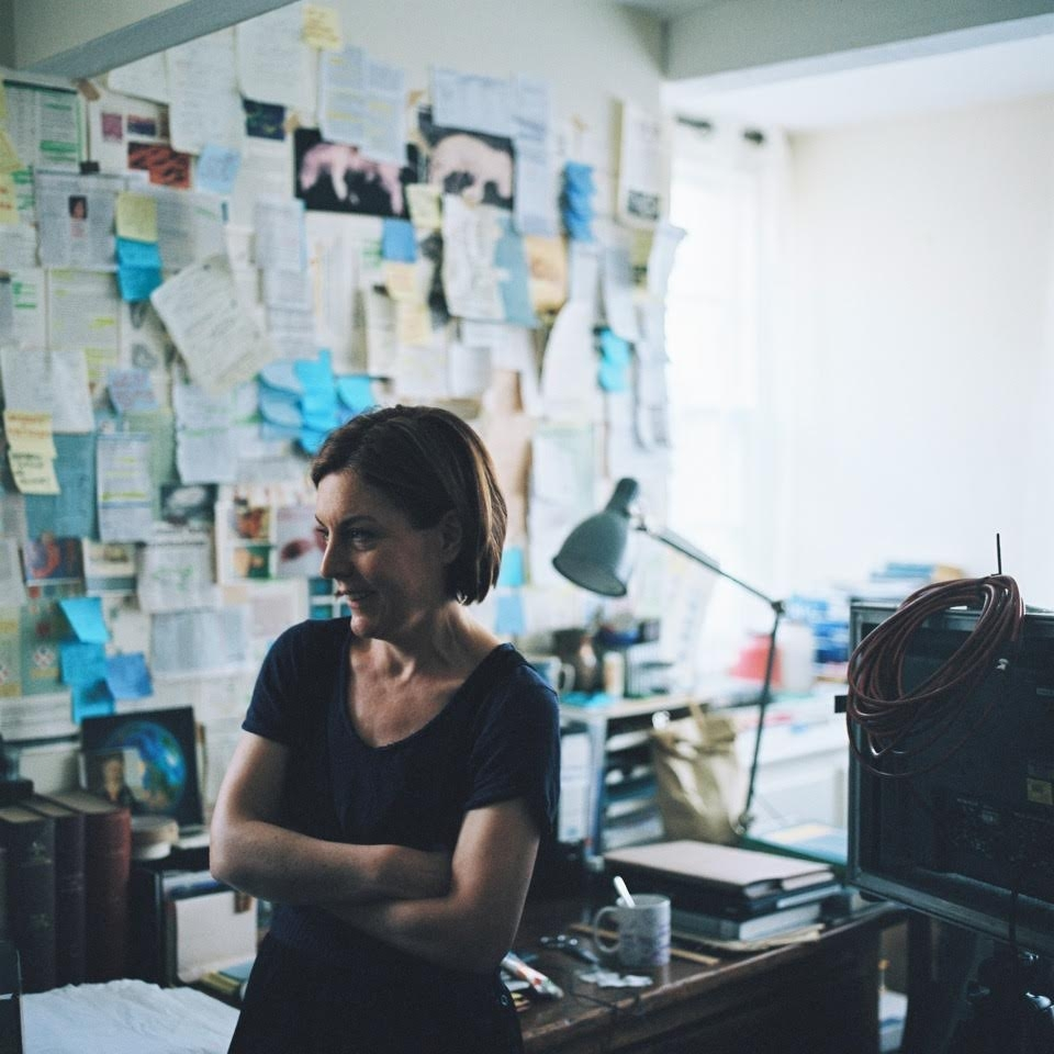 Lucy Campbell on the set of Pig Child 2014
