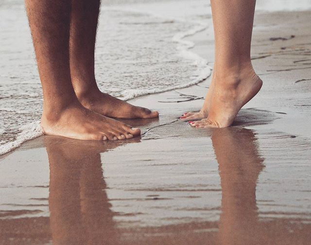 Romance In The Water :: Tip Toes #love #engagementphoto #engagement #wedding #couple #diamond #diamonds #putaringonit #ido #💍 #💎 #photooftheday #city #beach #wave #nature #sand #feet  #nikon #nikonpros #D610 #vsco #vscocam #vscophile #instagood #instadaily #goldeneyephotography #justgoshoot