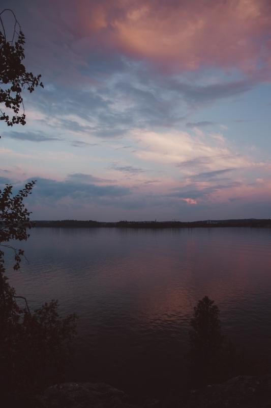Sunset Pyhäjärvi Tampere lakes
