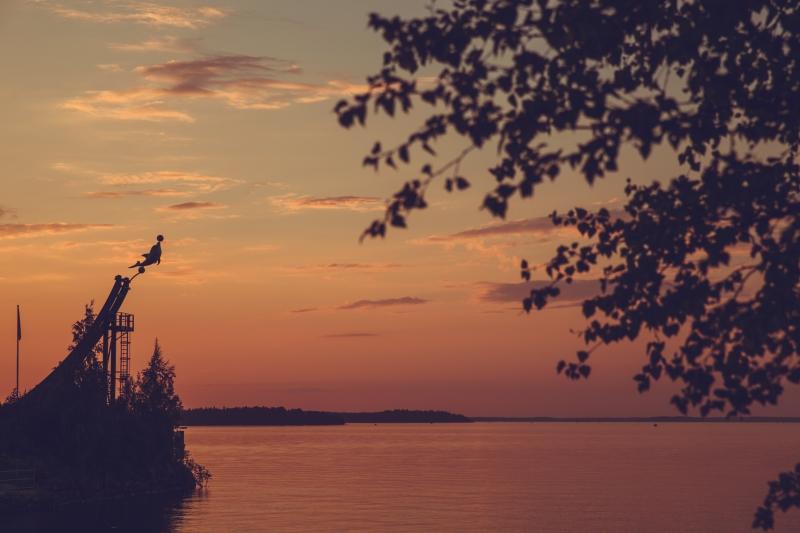 Sunset Näsijärvi Tampere lakes